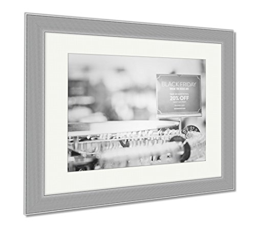 Ashley Framed Prints Shopping On Black Friday, Wall Art Home Decoration, Black/White, 34x40 (frame size), Silver Frame, - Park Shopping Mall Meadows
