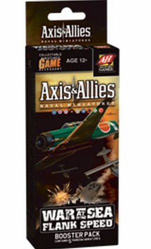 Naval Miniatures - Wizards of the Coast Axis and Allies Naval Miniatures War at Sea Flank Speed Booster Pack Board Game Expansion