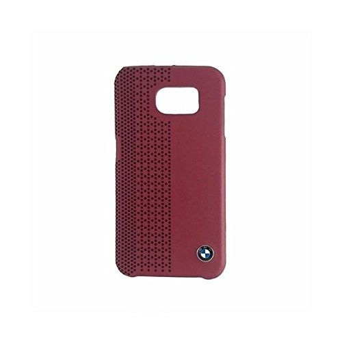 (BMW Official Galaxy S6 Signature Collection Genuine Leather Hard Case Perforated RED - BMHCS6PER )