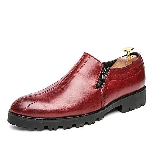 a punta antiscivolo Scarpe uomo Dimensione a Rosso uomo tinta per EU 2018 Basse Stringate Nero Oxford Xujw formali unita tinta shoes unita Scarpe da Color 41 xPEwz6vq