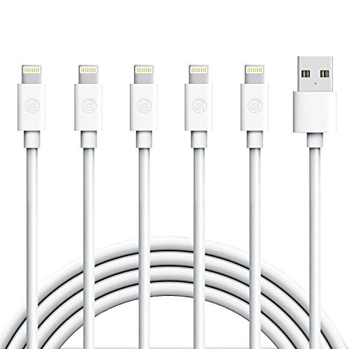 iPhone Charger, Everdigi Lightning Cable 5Pack 6FT iPhone Charging Cable Cord Compatible with iPhone X 8 8Plus 7 7Plus 6s 6sPlus 6 6Plus SE 5 5s 5c iPad iPod & More (white)