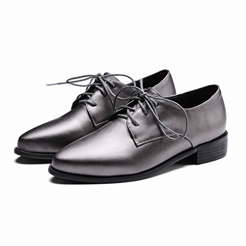 Latasa Women's Pointed Toe Lace up Chunky Heels Oxford Shoes cheap