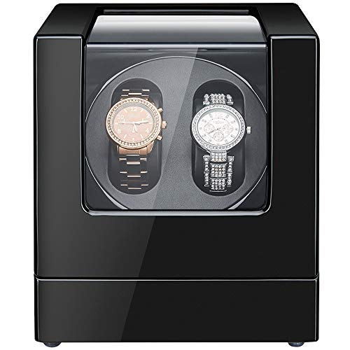 Sepano Automatic Double Watch Winder Elite I - Wooden Watch Winder Box for 2 Watches - Watch Display Case with Mabuchi Motor and Dual Power Supply