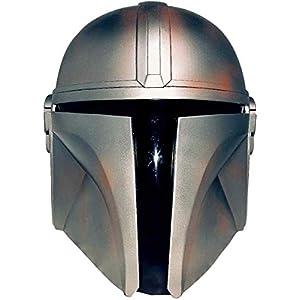 Yxian Star Wars Mandalorian Helmet Mask Metal Man Welding Helmet Man Halloween Cosplay Costume Toy Adult