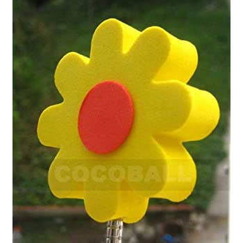 Amazon yellow flower red center antenna topper ball automotive yellow flower red center antenna topper ball mightylinksfo