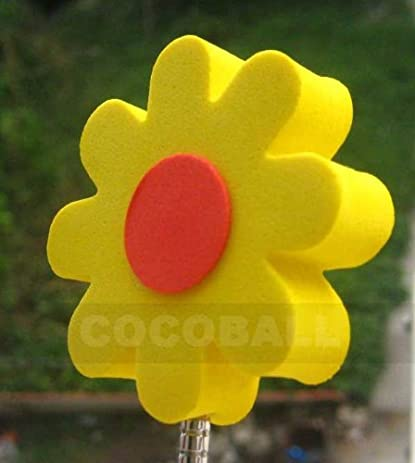 Amazon yellow flower red center antenna topper ball automotive yellow flower red center antenna topper ball mightylinksfo