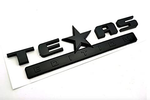 Cool! All Black TEXAS EDITION Car Emblem Sticker CHEVY SILVERADO Car Rear Truck Tail Badge - Fender Replacement Speaker