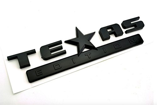 Cool! All Black TEXAS EDITION Car Emblem Sticker CHEVY SILVERADO Car Rear Truck Tail Badge (3500 Flaps Chevy Mud)