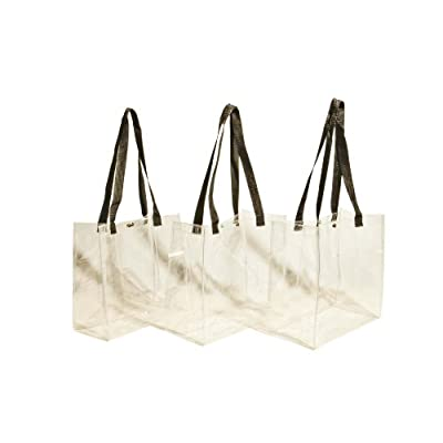 2105fdf62a9 lovely 3-Pack  Clear 12 x 12 x 6 NFL Stadium Tote Bag with Black ...