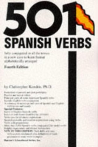 501 Spanish Verbs (Barrons) 4th (fourth) Revised Edition by Kendris, Christopher published by Barron's Educational Series Inc.,U.S. (1996)