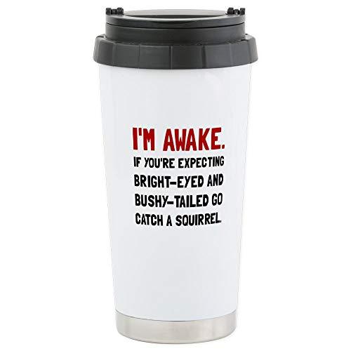 CafePress Go Catch Squirrel Travel Mug Stainless Steel Travel Mug, Insulated 16 oz. Coffee Tumbler