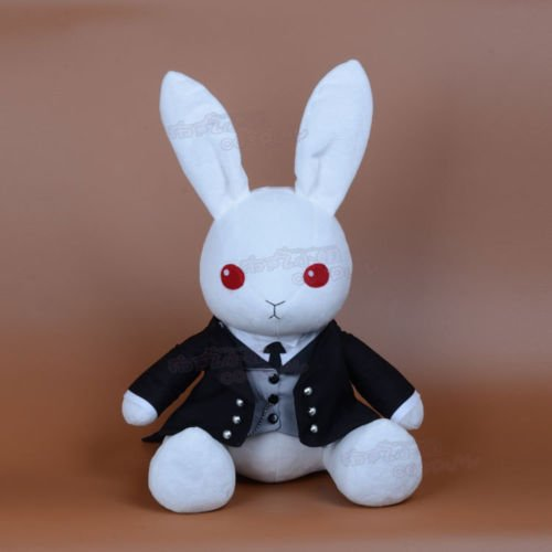 Amine Black Butler Book of Circus Sebastian Michaelis Plush Rabbit Toy Cosplay N1
