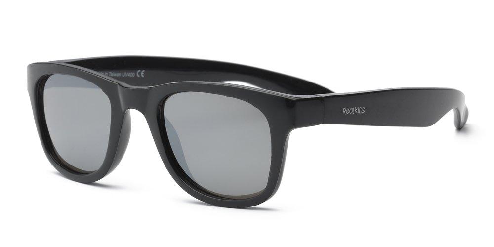 Surf Wayfarer Gafas de sol infantiles, ajuste flexible, tamaño 7+ azul azul neón Real Kids 7SURNBL