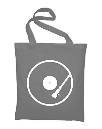 Dj Jute yellow Lp Shoulder Player Turntable Bag Yellow And Styletex23bagplatt8 Fabric Light Record Grey Cotton Bag TrTwzH