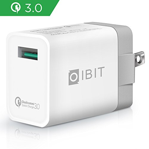 IBIT QC3.0 Wall Charger, Single Port USB Quick Charge 3.0 Wall Charger with Foldable Plug (Quick Charge 2.0 Compatible, Qualcomm Certified) for iPhoneX/8/7/6s/Plus, Samsung, LG, Nexus, HTC and More