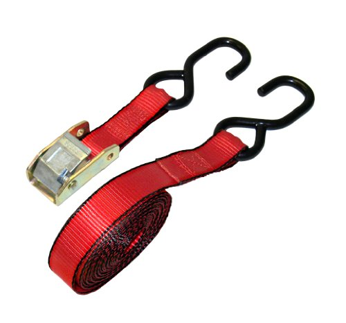 Everest Premium Cambuckle Straps - 1 PK - 1 IN - 15 FT - 500 LBS Working Load - 1500 LBS Break Strength - Ratchet Tie Down Alternative - Cargo Straps Perfect for Moving Appliances, Lawn Equipment and Motorcycles ()