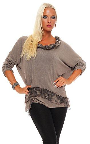 Planet - Camisas - Túnica - Básico - para mujer marrón