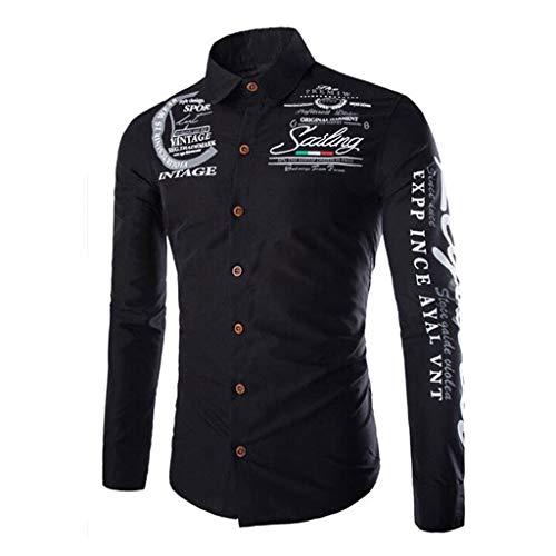 - KLGDA Mens Long Sleeve Slim Fit Casual Printed Button Down Dress Shirt Quick Dry UV Protection Hiking Fishing Shirts Black