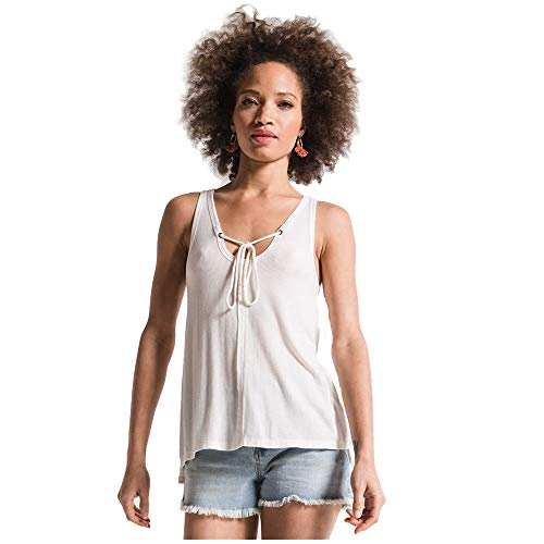 Z Supply Clothing Women's The Micro Rib Tie-Front Tank