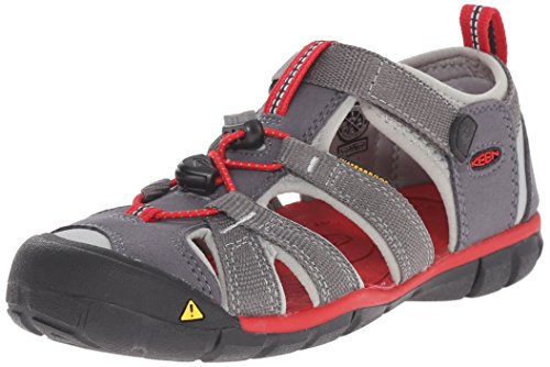 KEEN Baby Seacamp II CNX, Magnet/Racing Red, 12 M US Little Kid