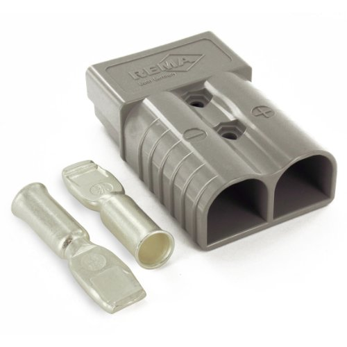 Intella 6320G3 350 amp Gray Battery Connector with Set of 1/0 Contact (Contact Connectors)