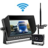 Cheap Wireless Backup Camera Kit Waterproof Wireless License Plate Rear View Camera,Night Vision Reverse Rearview Cam for Trucks, Trailer, RV,Pickup Trucks,Cargo,Vans,etc