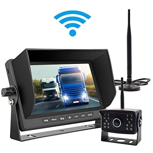 Cheap Wireless Backup Camera Kit Waterproof Wireless License Plate Rear View Camera,Night Vision Reverse Rearview Cam for Trucks, Trailer, RV,Pickup Trucks,Cargo,Vans,etc