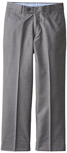 Nautica Big Boys' Herringbone Solid Pant, Medium Grey, 16