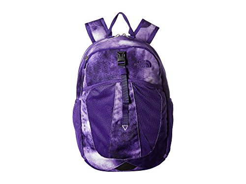 The North Face Youth Recon Squash Backpack - Dahlia Purple Colored Print & Deep Blue - OS