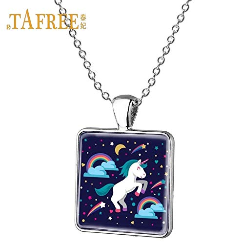 Pendant Necklaces - Women Fashion Unicorns Metal Necklace Ties Wedding Necklace Party Fantasy Pegasus Women's Pendant Necklace Jewelry UN19 - by Mct12-1 PCs
