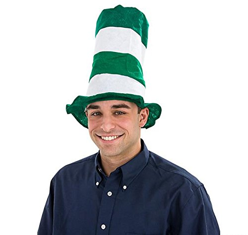 GREEN AND WHITE STOVEPIPE HAT, Case of 144