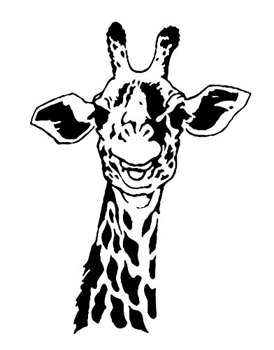 Stickerbrand African Safari Giraffe Wall Decal Sticker Black Color 30in x 21in. Easy to Apply & Removable. #145A
