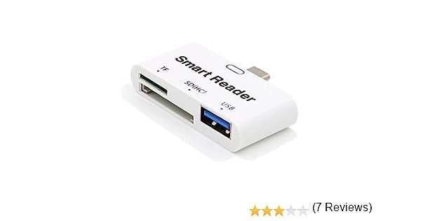 VIMVIP 3 en 1 Tipo C USB 3.0 5 Gbps TF SD Card Reader Type-C con ...
