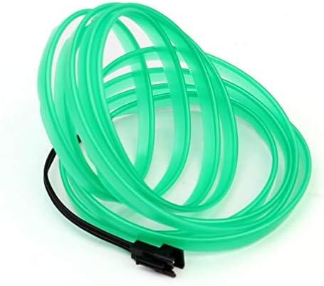 3V // 12V USB Drive Dimensioni: 2M Colore: bianco LED EL Light Neon Rope Car Party Dance Striscia di luce incandescente