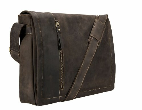 Visconti Messenger Bag with Laptop Sleeve for 15'', Brown, X-Large by Visconti (Image #1)