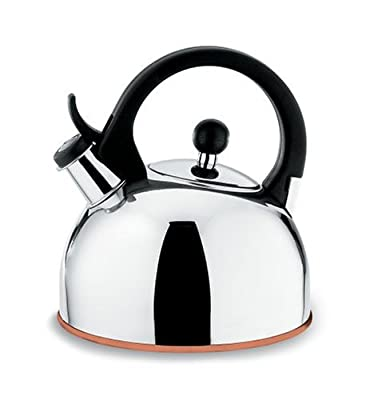 Copco Gismo 1-1/4-Quart Teakettle, Polished Stainless Steel with Copper Bottom
