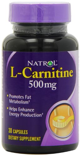 Natrol L Carnitine 500mg Capsules, 30 Count