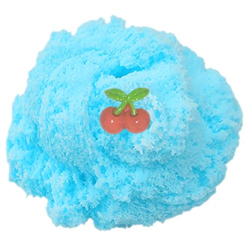 COKIME Cloud Slime, 8 OZ Blue Jumbo CottonCandy Snow Slime with Charm, Stress Relief ToyforGirls and Boys