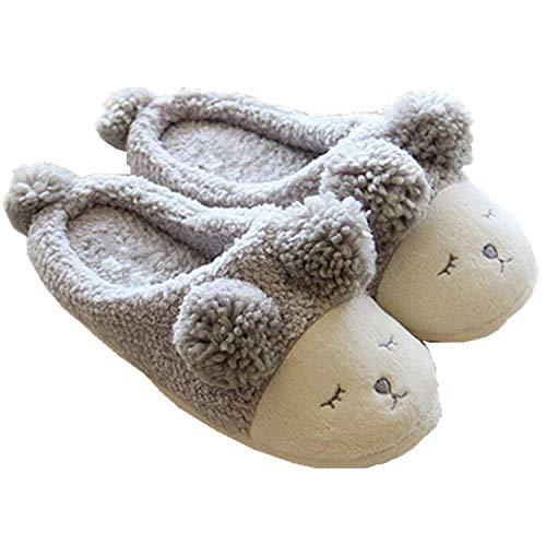 Poil Chaud Xidan Mouton Gris Pantoufle Souple avec Sans Intérieure Femmes UqwtExPawf