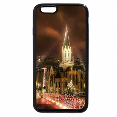 iPhone 6S / iPhone 6 Case (Black) rays of light over a bridge in lyon france hdr