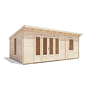 Dunster House Log Cabin with Side Room 5.9mx3.8m