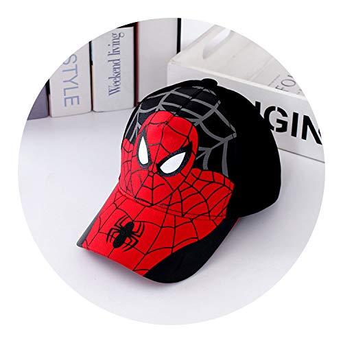 春と夏 子供の帽子 スパイダーマン 男と女の子 アヒル舌 野球のキャップマスク 刺繍