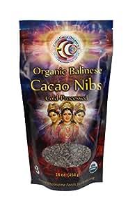 Earth Circle Organics Verified Raw Balinese Cacao Nibs, 16-Ounce