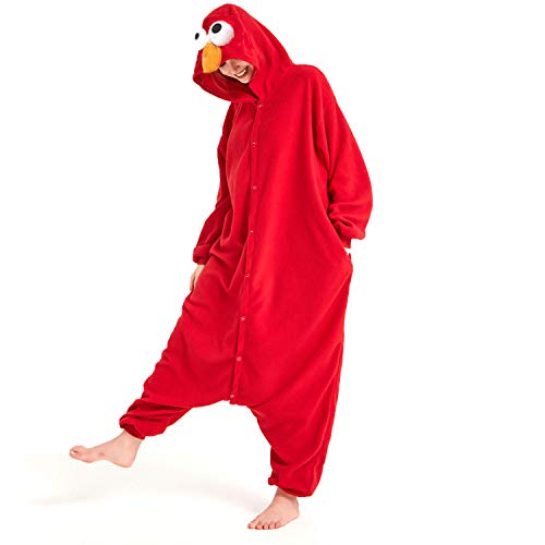 Sweetdresses Adult Unisex Animal Sleepsuit Kigurumi Cosplay Costume Pajamas (X-Large, Elmo)
