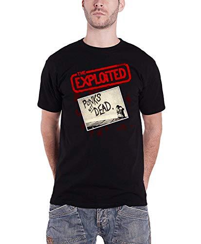 Exploited The Plastic Not black Da Punks Nero Uomo Maglietta Head Dead 5qqwEBx