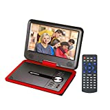 "Best Portable Blu-ray Players - GJY 9.5 "" Portable DVD Players Red Review"