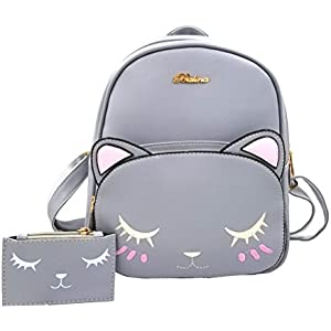 cd83a801ff6e Donalworld Women Owl Backpack Cute Cartoon School PU Leather ...