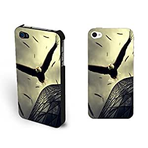 Pretty Feather Print For Ipod Touch 5 Case Cover Animal Picture Cool Eagle Diving Design For Ipod Touch 5 Case Cover Animal Print for Guys
