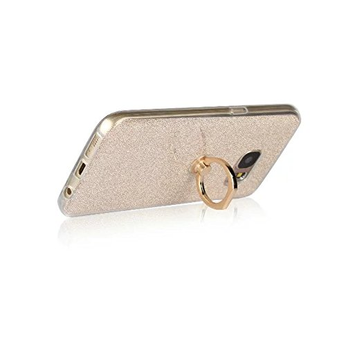 Étui pour White Soft Luxe Galaxy Color style Support Glitter Flexible Silicone Bling TPU Fingerring Sparkle avec Gold Samsung Housse S7 OwOSWUqrZ
