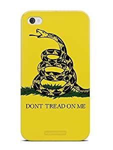 Inspired Cases 3D Textured Don't Tread On Me - Snake Case for iPhone 4 & 4s